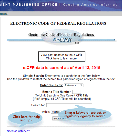 Code of Federal Regulations - Wikipedia